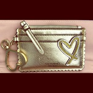 Gold Victoria Secret Card Holder and Coin Purse